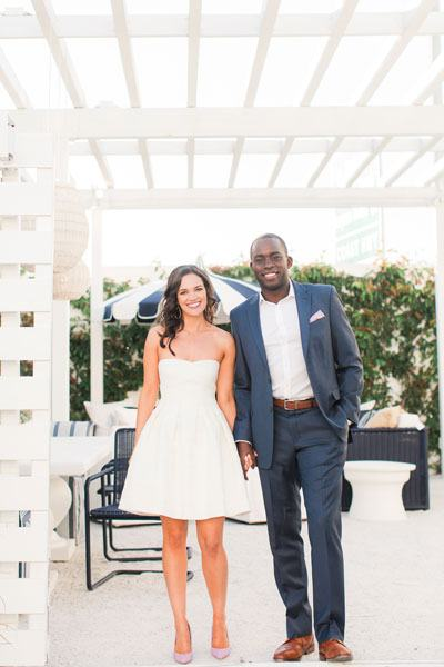 Dr. Ogbevoen and his wife Sienna in an outdoor patio